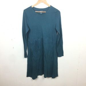 Pure Jill Green Dipped Hem Swing Dress Small
